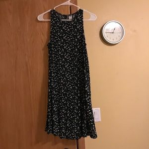 Old Navy Black Floral Flowy Sundress